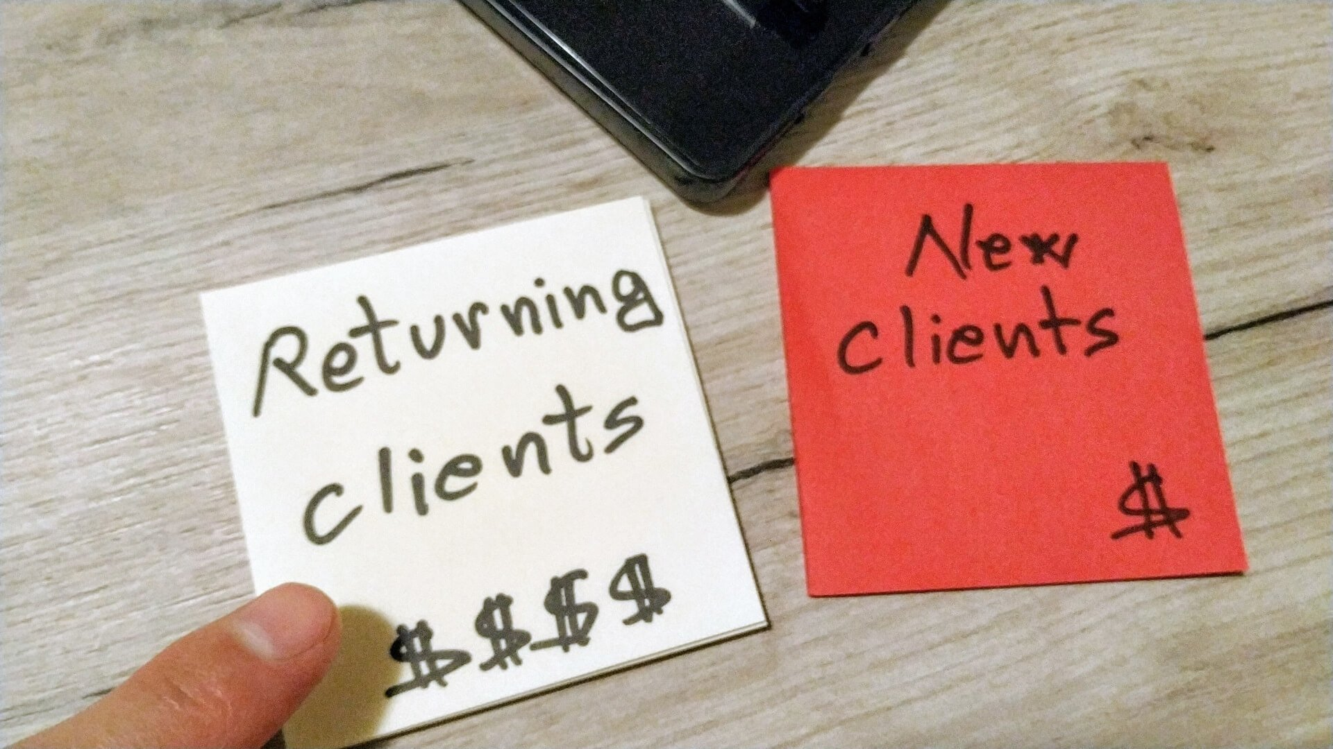 Returning vs new clients